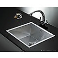 440x440mm Stainless Steel Single Bowl Sink with Round Waste
