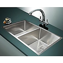 835x505mm Handmade 1.5mm Stainless Steel Sink with Square Waste