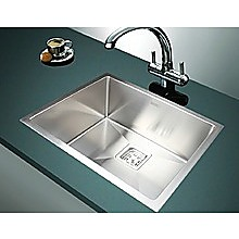 550x455mm Handmade 1.5mm Stainless Steel Sink with Square Waste