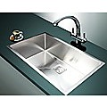 810x505mm Handmade 1.5mm Stainless Steel Sink with Square Waste