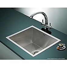 510x450mm Stainless Steel Single Bowl Sink with Round Waste