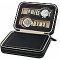 4 Watch Box Display Travel Case PU Leather