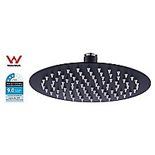 200mm Shower Head Round 304SS Electroplated Matte Black Finish