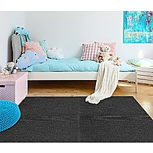 5m2 Box of Premium Carpet Tiles Commercial Domestic Office Heavy Use Flooring Black
