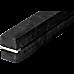 2.2m Gymnastics Folding Balance Beam Black Synthetic Suede