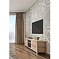 Wallpaper Silver Flower Pattern Non-woven Wall Paper Roll