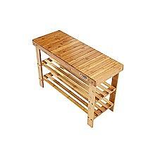 3 Tier Shoe Rack Bamboo Wooden Storage Shelf Stand Bench Cabinet Organiser