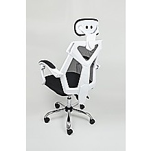 Office Chair Gaming Computer Chairs Mesh Back Foam Seat - White