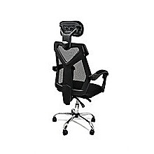 Office Chair Gaming Computer Chairs Mesh Back Foam Seat - Black
