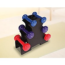 6-Piece Dumbbell Set with Rack