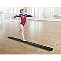 2.4m (8FT) Gymnastics Folding Balance Beam Black Synthetic Suede