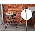 Set of 4 Industrial Retro Hairpin Table Legs 12mm Steel Bench Desk 41cm Leg