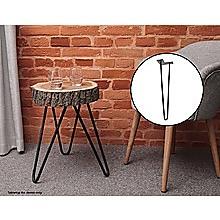 Set of 4 Industrial Retro Hairpin Table Legs 12mm Steel Bench Desk - 41cm