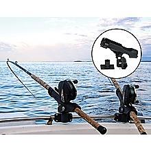 4PC Kayak Boat Fishing Pole Rod Holder Tackle Kit  Adjustable Side Rail Mount