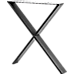 X-Shaped Table Bench Desk Legs Retro Industrial Design Fully Welded