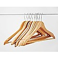 120pc Wooden Clothes Hangers Coat Pant Suit Coathangers Rack Wardrobe Wood