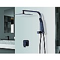 """WELS 8"""" Rain Shower Head Set Square Dual Heads Faucet High Pressure With Mixer"""