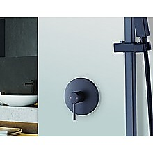Bathroom Shower Bath Mixer Tap WATERMARK Approved - Electroplated Matte Black