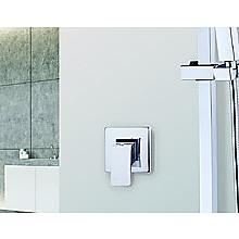 Chrome Bathroom Shower Wall Mixer w/ WaterMark