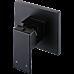 Polished Black Bathroom Shower Wall Mixer w/ WaterMark
