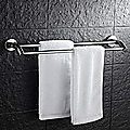 Double Classic Chrome Towel Bar Rail Bathroom