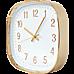 Modern Wall Clock Silent Non-Ticking Quartz Battery Operated Gold