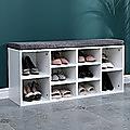 Shoe Cabinet Bench Shoes Storage Rack Organiser Wooden Shelf Cupboard Box