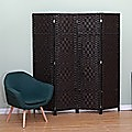 4-Panel Room Divider Screen Privacy Rattan Dividers Stand Fold