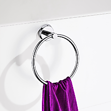 Classic Chrome Towel Bar Rail Ring Bathroom
