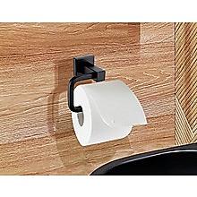 Classic Toilet Paper Holder Matte Black Finish