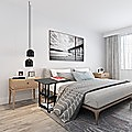 Sofa Lounge Bed Side Table Laptop Desk with Shelves & Wheels