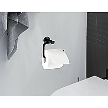 Classic Toilet Paper Holder Matte Black Finish