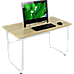 Wood & Steel Solid Computer Desk Home Office Furniture