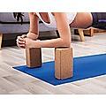 2x ECO-Friendly Cork Yoga Block Organic Yoga Prop Accessory Exercise Brick
