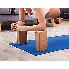2x ECO-Friendly Cork Yoga Block Organic Yoga Prop Accessory Exercise Brick