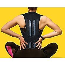 Lower Back Brace Unisex Posture Corrector Lumbar Support - Medium