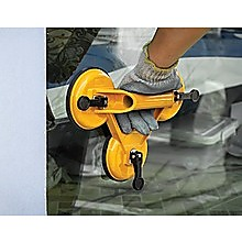2x 150kg Load Aluminum Triple Suction Cup Pad Glazer Glass Sucker Remover Lifter