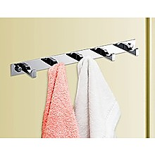 5-Hook Bathroom Robe and Towel Rail Bar Rack