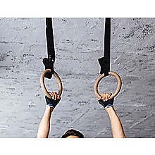 Wooden Gymnastic Rings Olympic Gym Strength Training