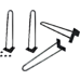 Set of 4 Industrial 12mm Steel Retro Hairpin Table Legs - 45cm Leg