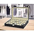 Watch Box - 24 Slot Luxury Display Case With Framed Glass Lid