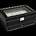 12 Grids Watch Display Case Leather jewellery Storage Box Organiser Lock Key