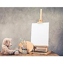 Tabletop Easel Wood Studio H-Frame Artist Art Display Painting Shop Tripod Stand Wedding