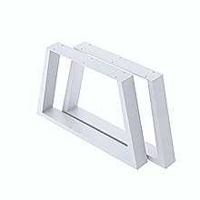 Trapezium-Shaped Table Bench Desk Legs Retro Industrial Design Fully Welded - White