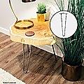 Set of 4 Chrome Retro Hairpin Table Legs 12mm Steel Bench Desk - 41cm