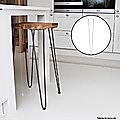 Set of 4 Industrial Retro Hairpin Table Legs 12mm Steel Bench Desk - 71cm Black