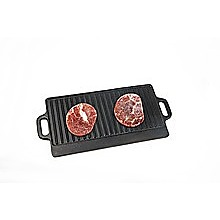 46x22 cm Cast Iron Reversible Griddle Plate BBQ Hob Cooking Grill Pan