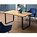 Square-Shaped Table Bench Desk Legs Retro Industrial Design Fully Welded - Black