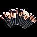 Soft 15Pcs Pro Face Powder Makeup Brushes Set Eyeshader Blending Highlight Tools