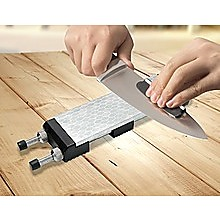 Double-Sided Diamond Knife Sharpeners Sharpening Stone W/ Stone Holder